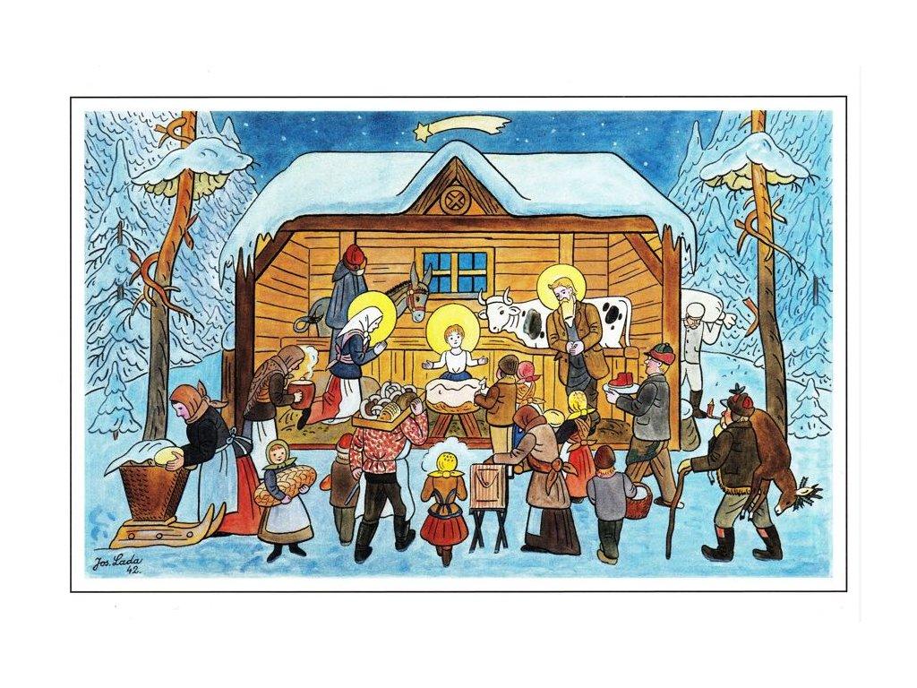 Vánoční pohlednice Josef Lada 25