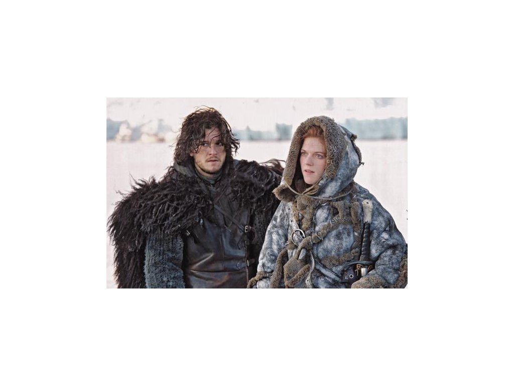 Pohlednice Game of Thrones - Jon a Ygritte