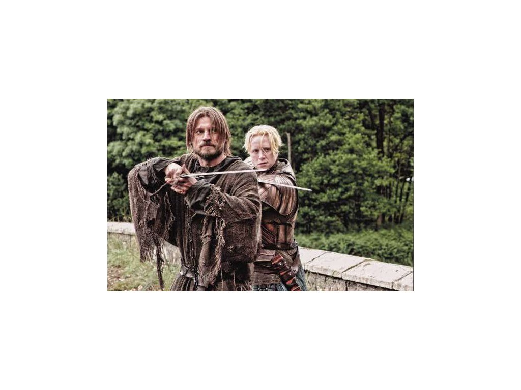 Pohlednice Game of Thrones - Jaime a Brienne