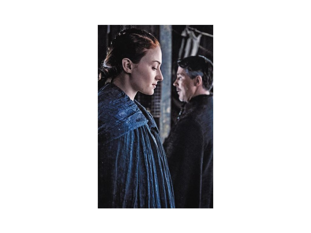 Pohlednice Game of Thrones - Sansa a Petyr