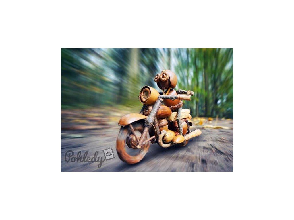 Pohlednice Dubánek motorkář