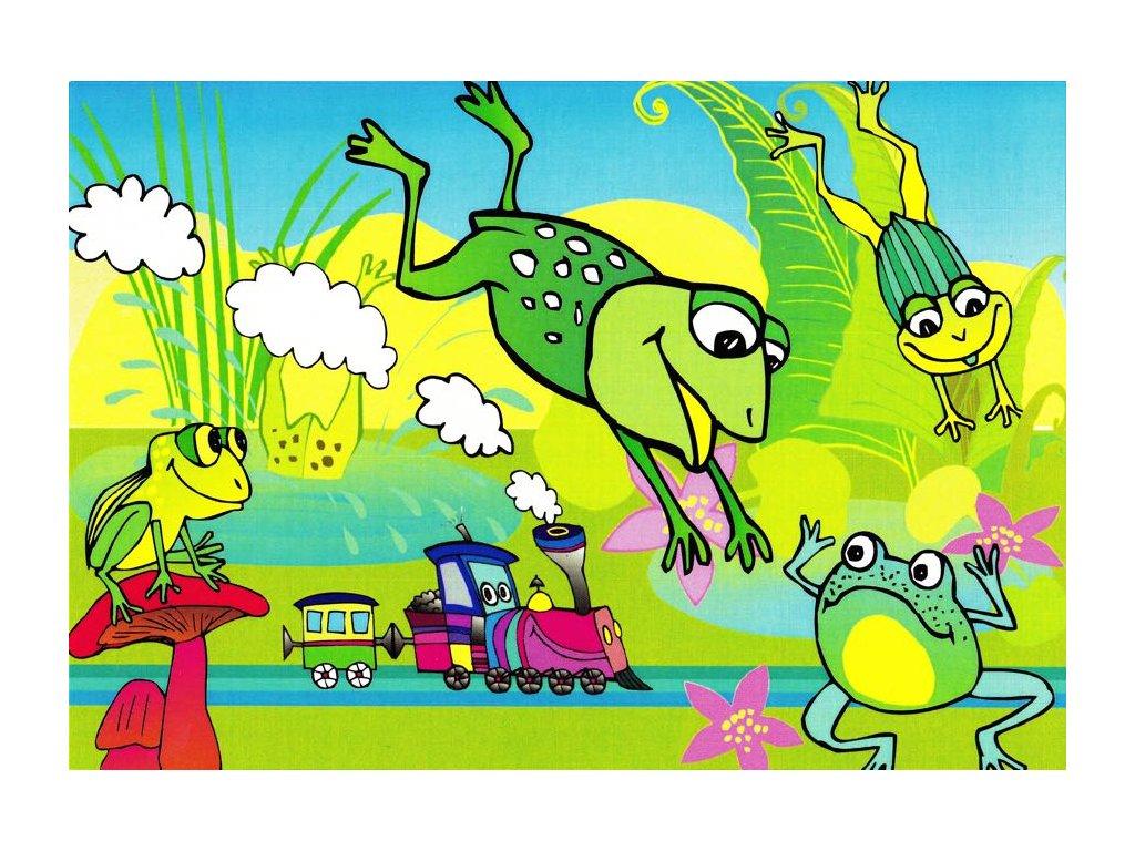 Pohlednice Žabky s vláčkem