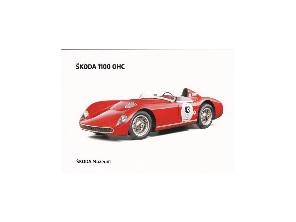 Pohlednice Škoda 1100 OHC