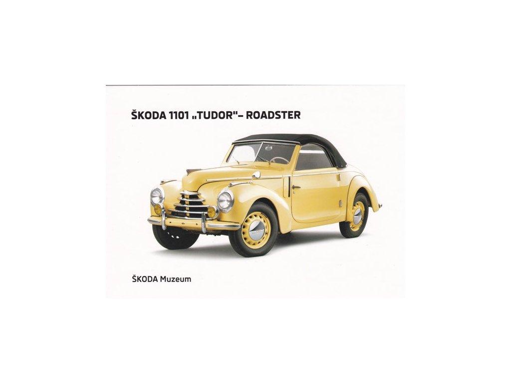 """Pohlednice Škoda 1101 """"Tudor"""" - Roadster"""