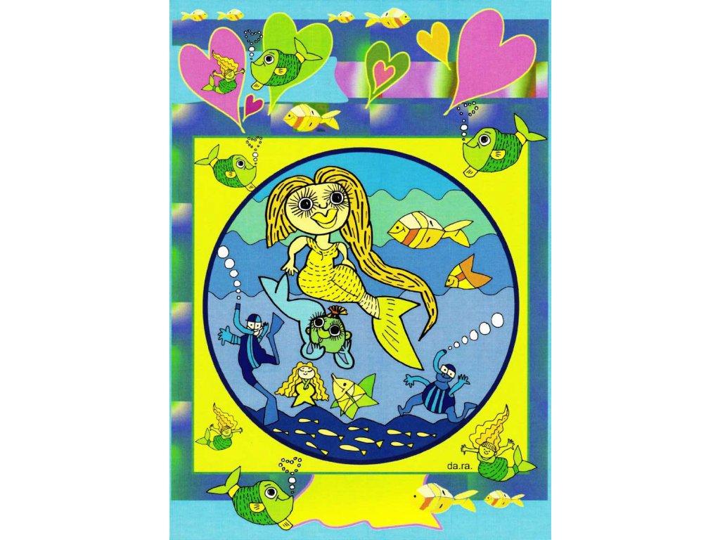 Pohlednice Mořská panna
