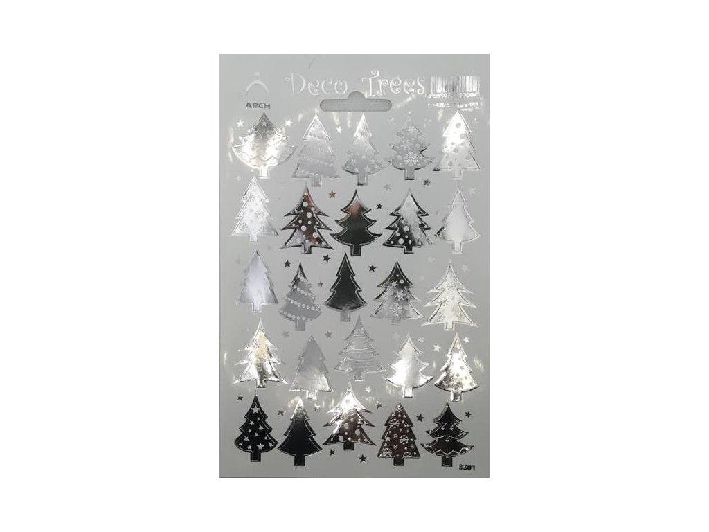Samolepky Stromečky - stříbrné
