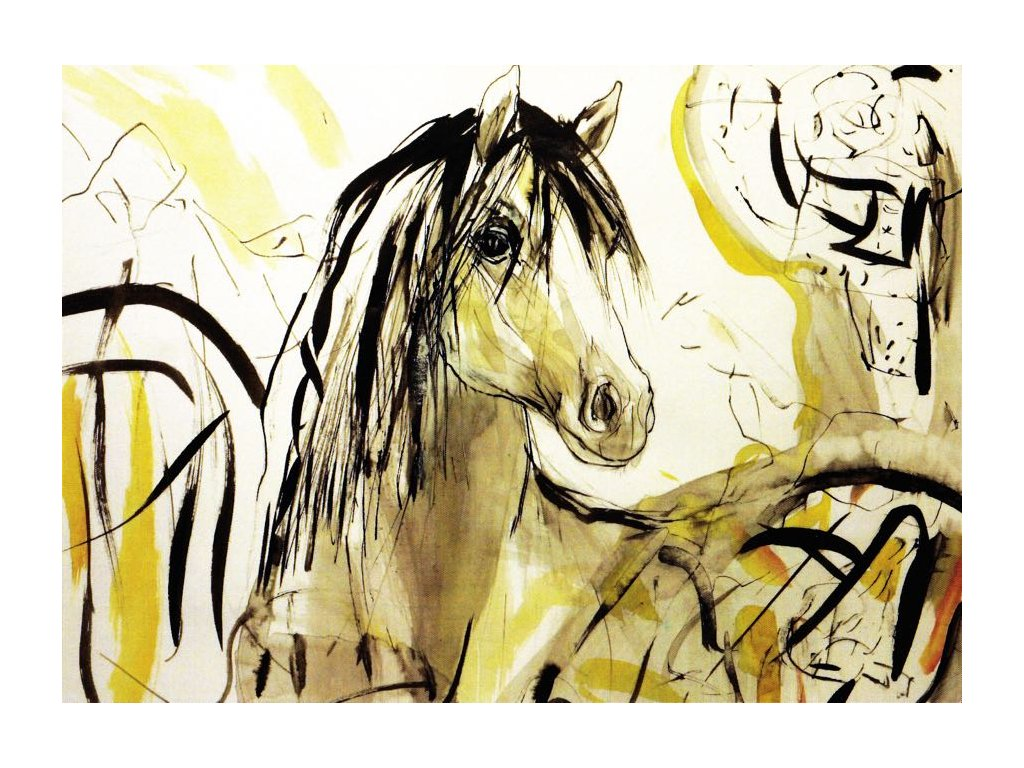 Pohlednice kůň 7