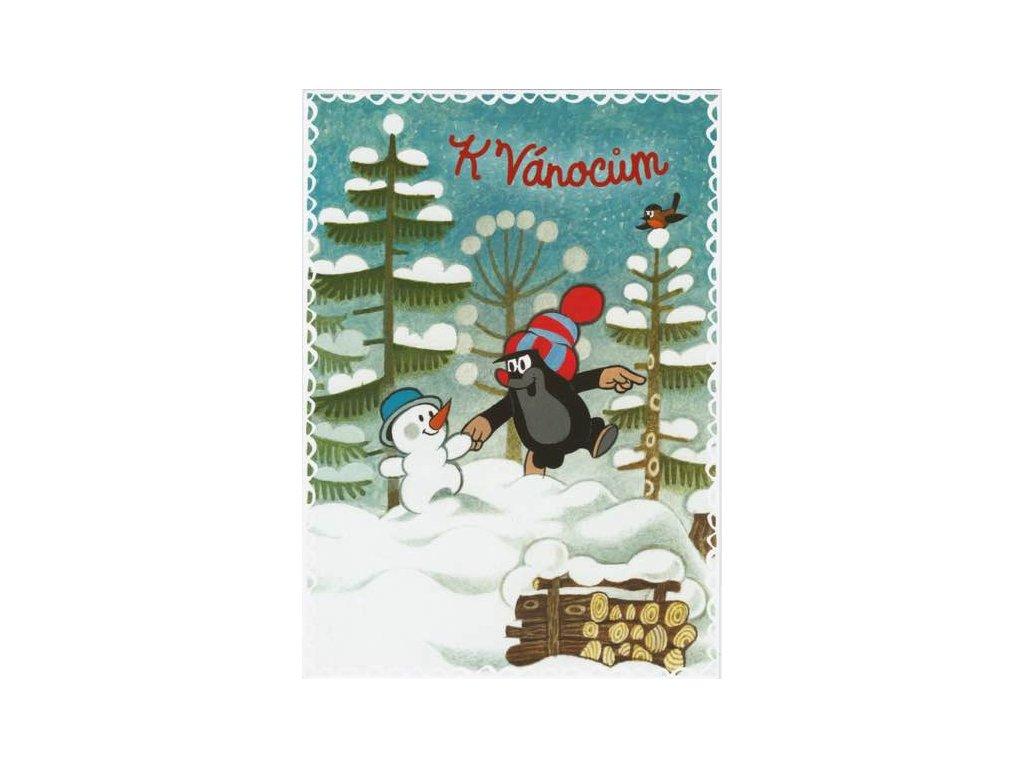 Pohlednice Krteček - K Vánocům