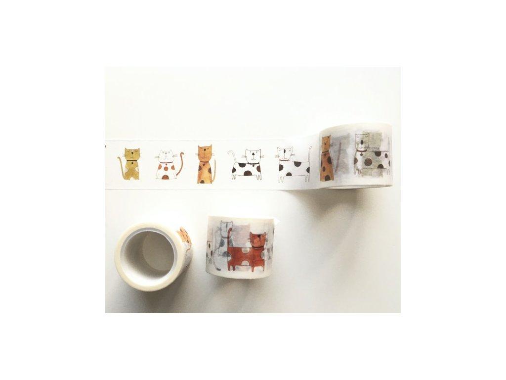 Washi páska Kočky