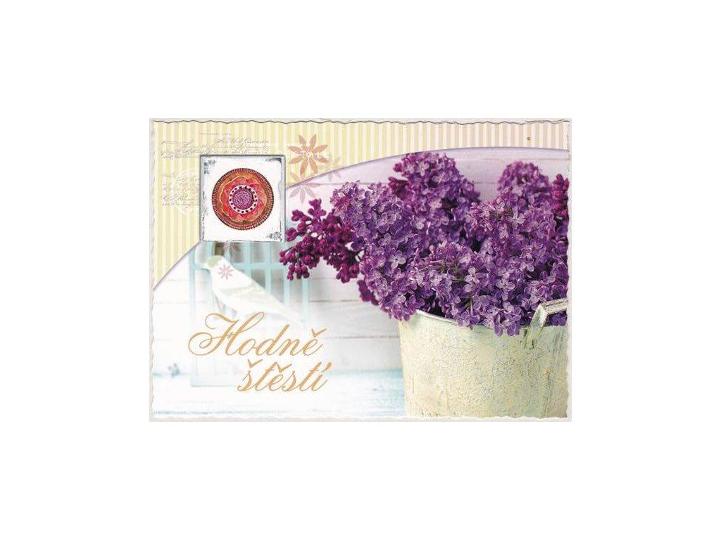 Pohlednice Květiny přání 5