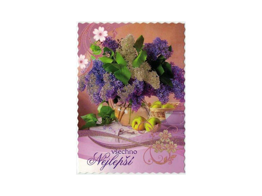 Pohlednice Květiny přání 7