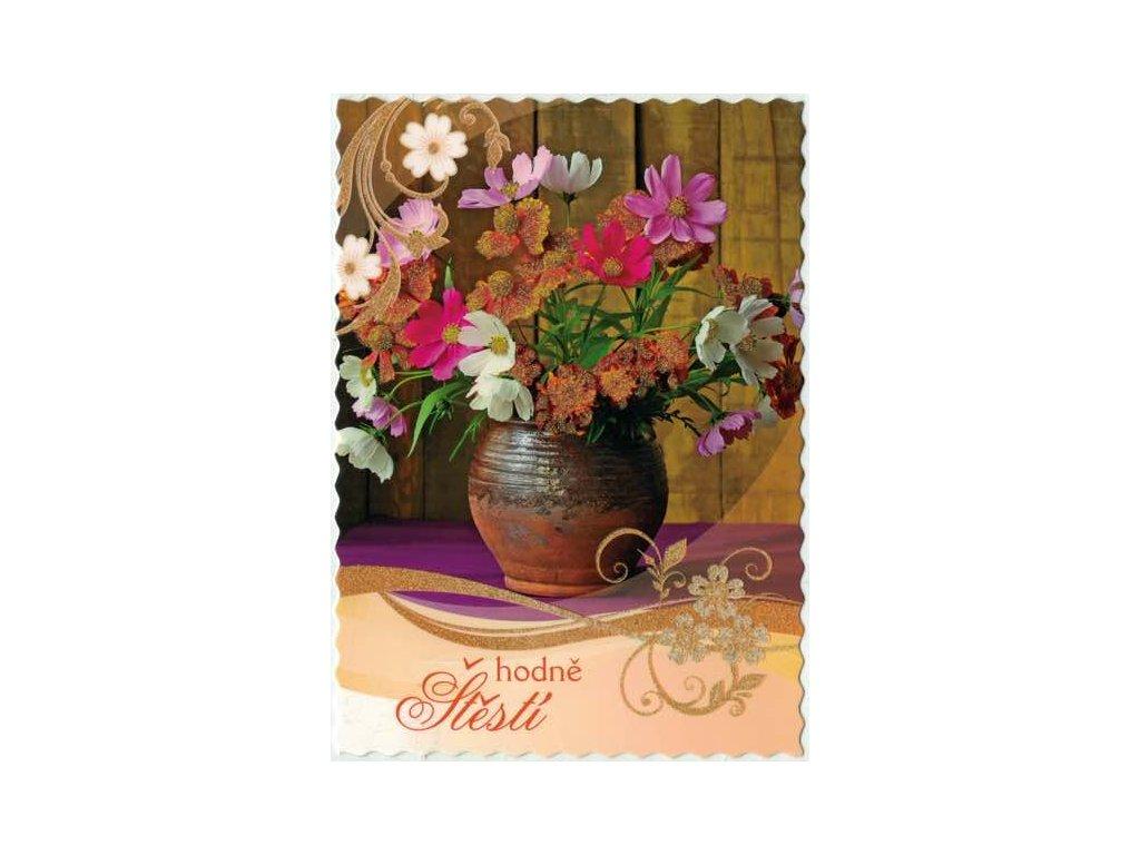 Pohlednice Květiny přání 8