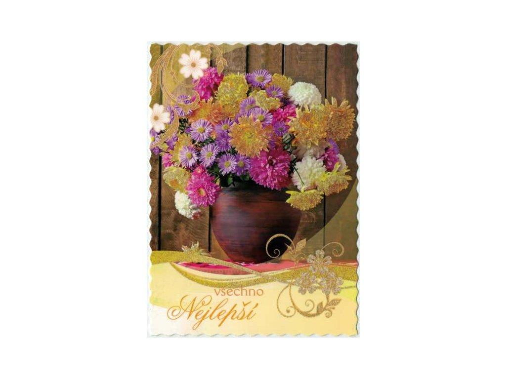 Pohlednice Květiny přání 9