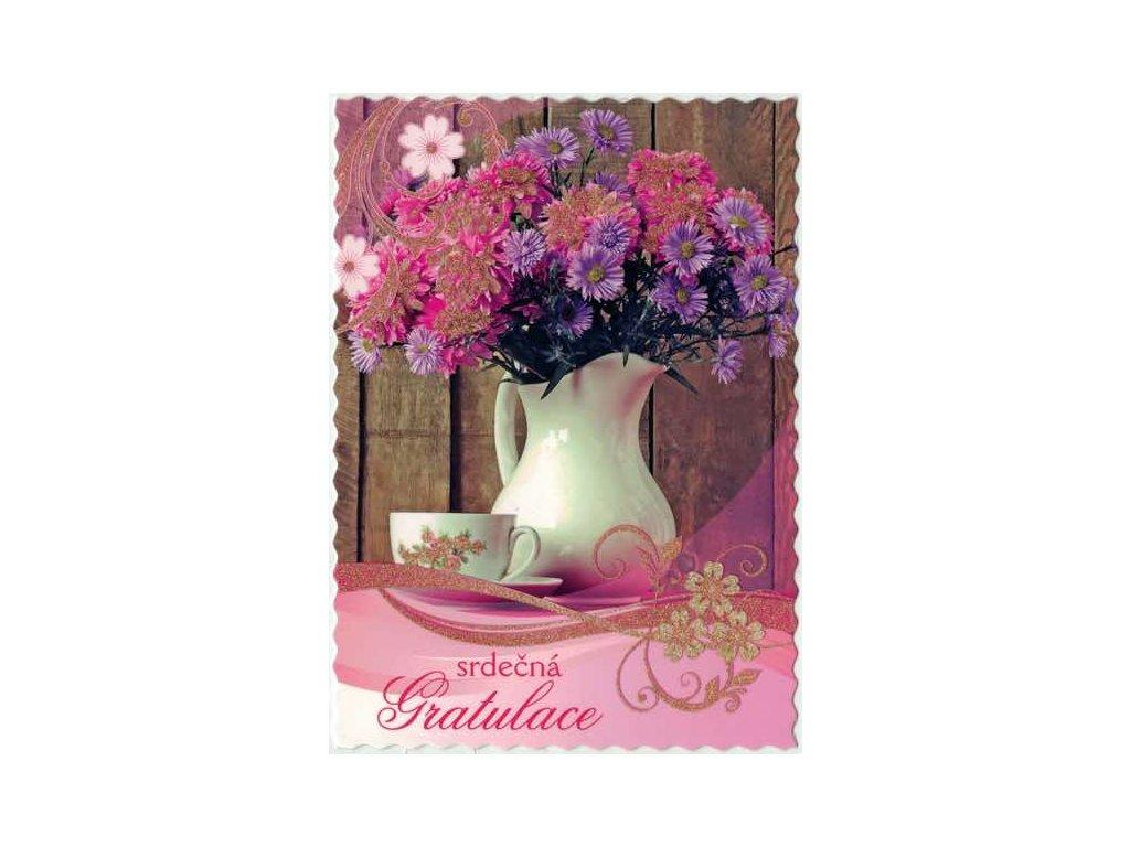 Pohlednice Květiny přání 11