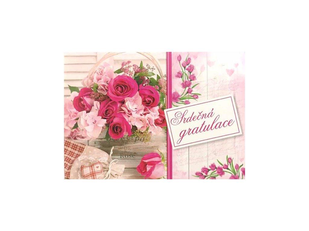 Pohlednice Květiny přání 19