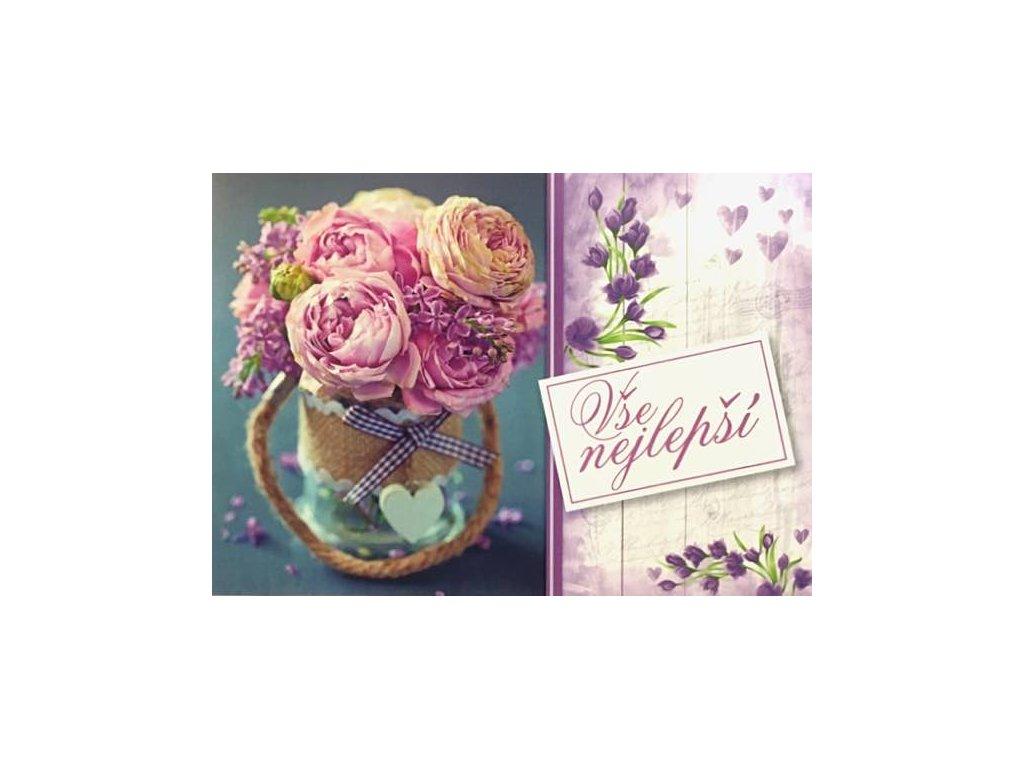 Pohlednice Květiny přání 20