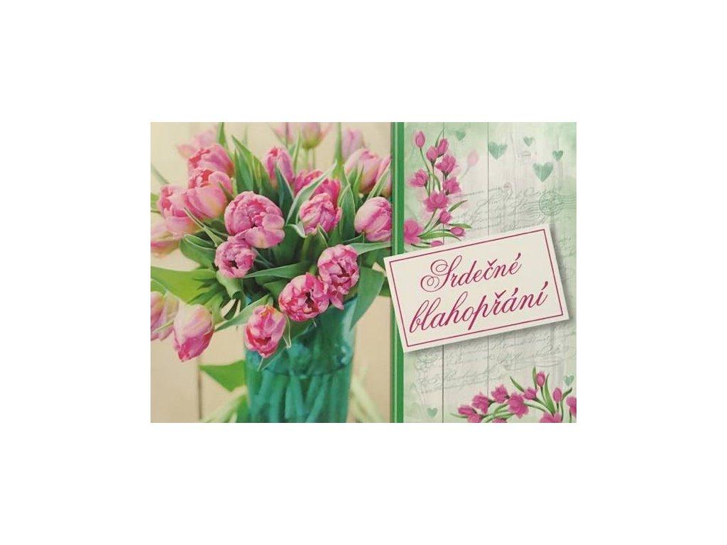 Pohlednice Květiny přání 21