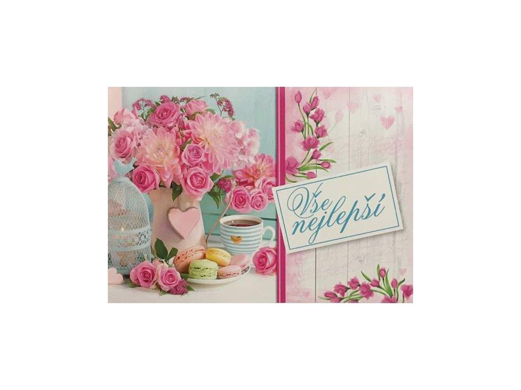 Pohlednice Květiny přání 23