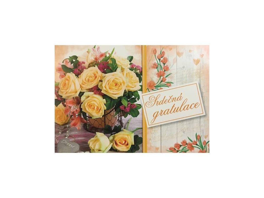 Pohlednice Květiny přání 24