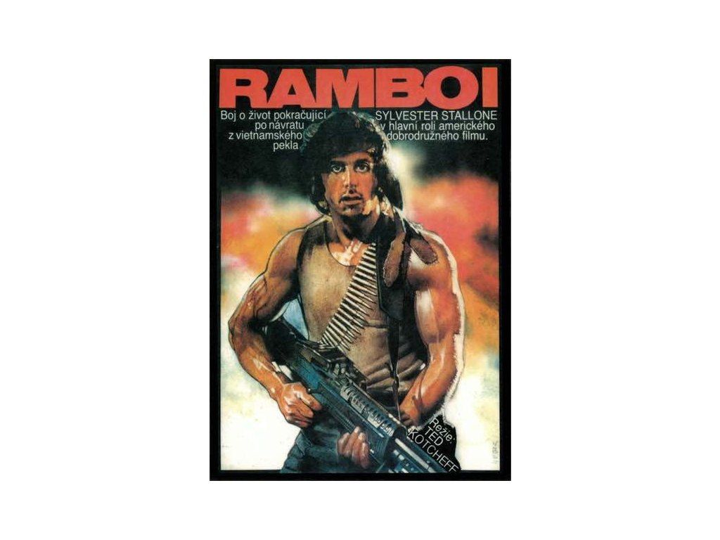 Pohlednice S. Stallone - RAMBO