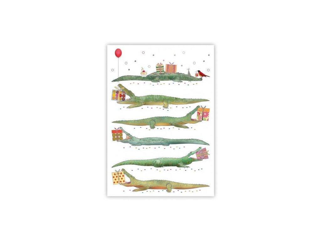 Pohlednice Krokodýlí přání