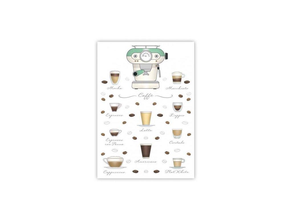 Pohlednice Káva
