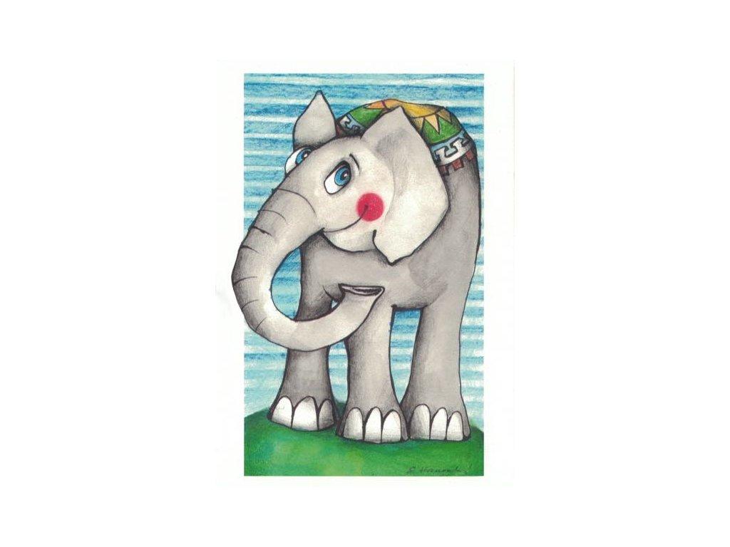 Pohlednice Sloní štěstí