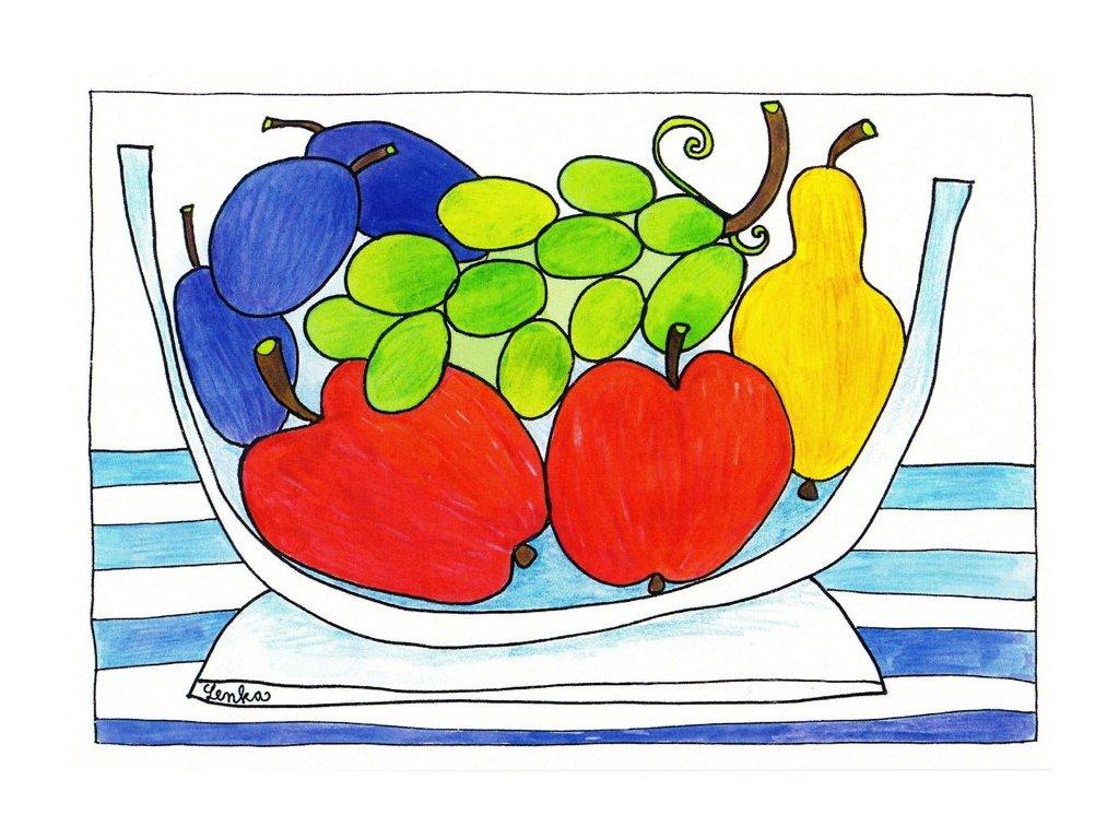 Pohlednice ovocná mísa