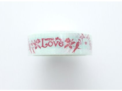 Washi páska With Love - ptáci