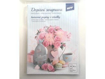 Dopisní sada Růžová kytice