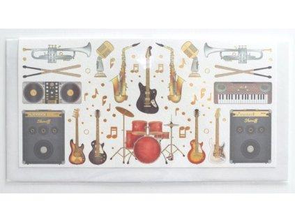 Blahopřání s obálkou na peníze - Hudba 1