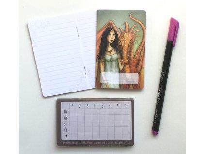 Mini zápisník Dračí princezna