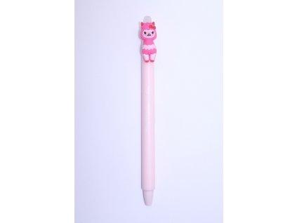 Gumovací pero Lama růžová