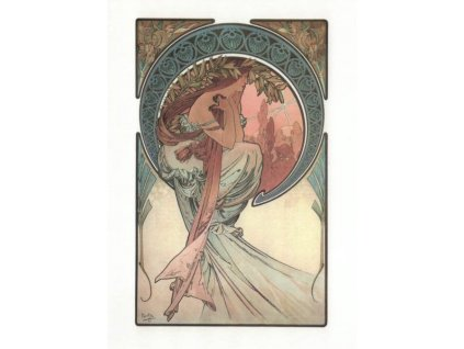 Pohlednice A. Mucha - Poetry
