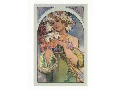 Pohlednice A. Mucha - Flower