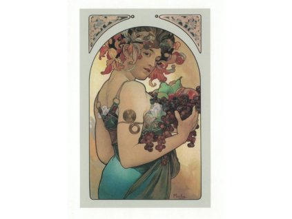 Pohlednice A. Mucha - Fruit