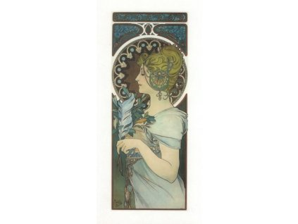 Pohlednice A. Mucha - Feather