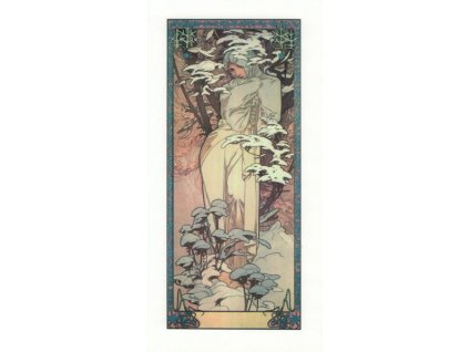 Pohlednice A. Mucha - Winter