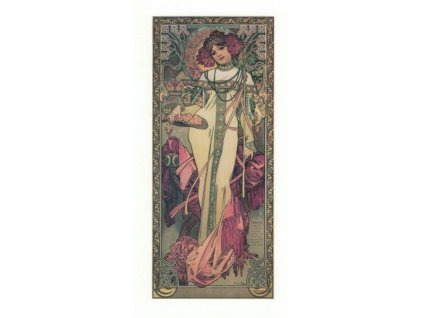 Pohlednice A. Mucha - Autumn