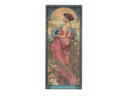 Pohlednice A. Mucha - Summer