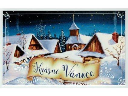 Vánoční přání - Vesnička