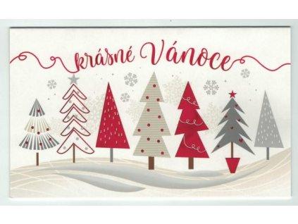 Vánoční přání - Stromečky
