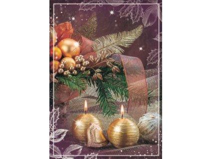 Pohlednice Vánoční zlatá