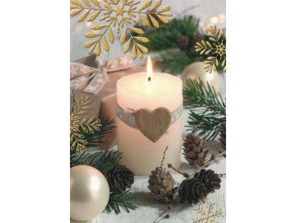 Pohlednice Vánoční svíčka