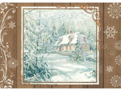 Pohlednice Vánoční chaloupka