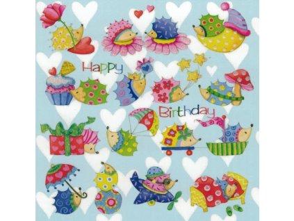Pohlednice Ježečci Happy Birthday