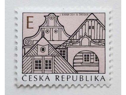 """Známka Lidová architektura """"E"""""""