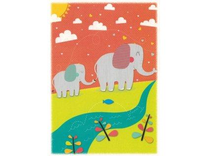 Pohlednice Sloni