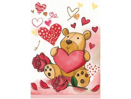 Pohlednice Medvídek z lásky