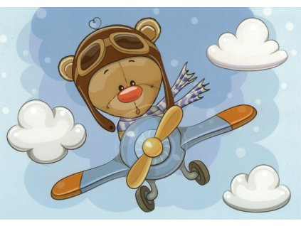 Pohlednice Medvídek pilot